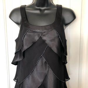 Tiered Black Dress Sleeveless Size 6